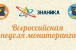 Всероссийская неделя мониторинга по русскому языку и математике для начальной школы